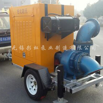 Small traction mobile pump
